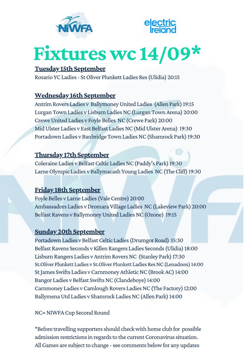 NIWFA Fixtures