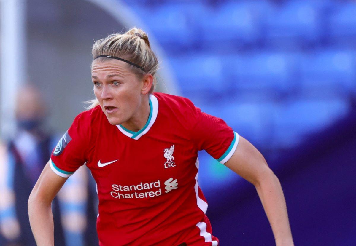 Amalie Thestrup got Liverpol's second goal