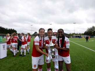Arsenal with FA Girls' Youth Cup in 2019