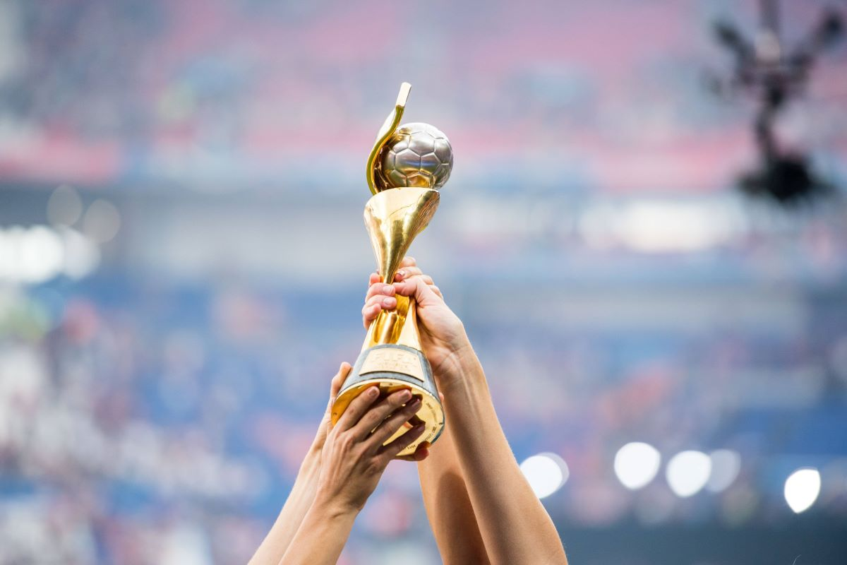 FIFA Women's World Cup held aloft