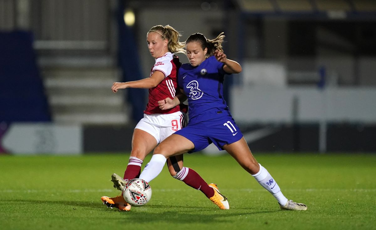 Chelsea's two-goal Guro Reiten with Arsenal's Beth Mead