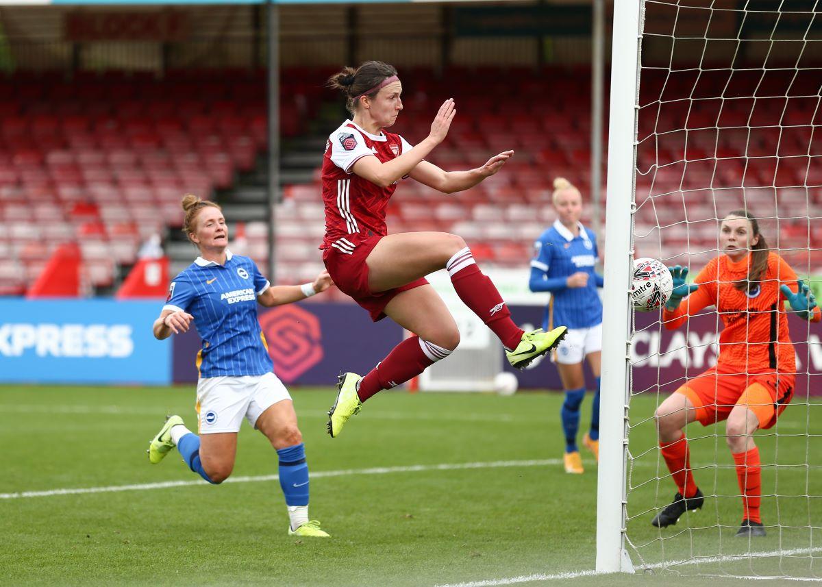 Lottie Wubben-Moy scored for Arsenal