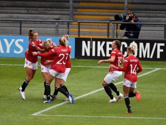 Man Utd celebrate Millie Turner goal