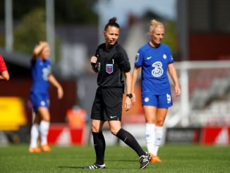 Cup final referee, Rebeca Welch