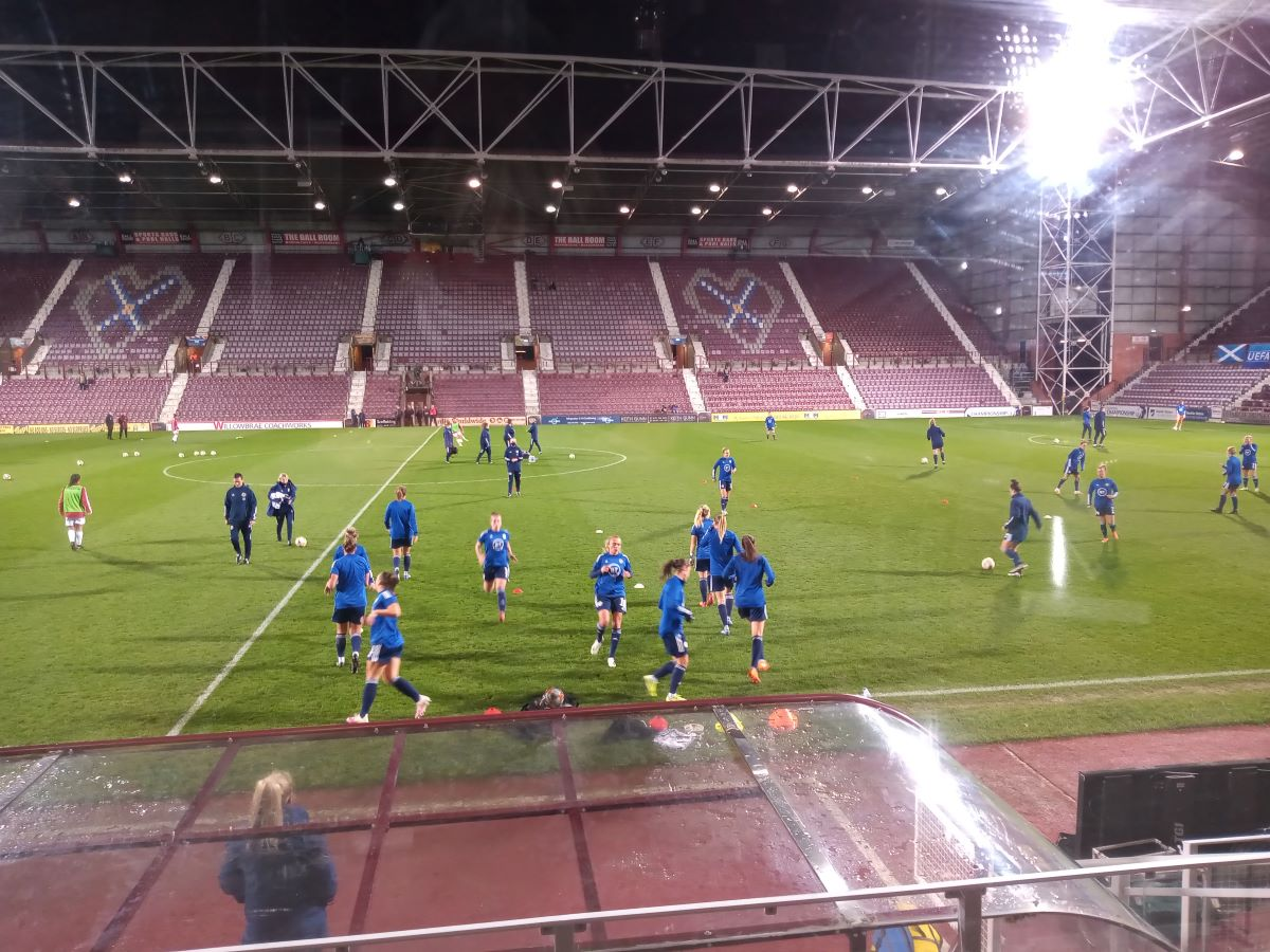 Scotland warm-uo at Tynecastle