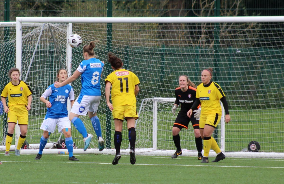 Stacey McConville's header for Peterborough United