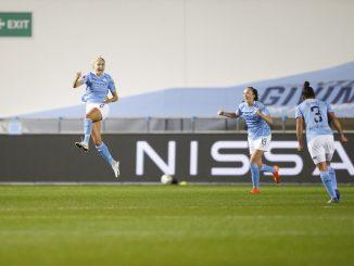 Steph Houghton celebrates her goal