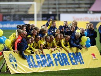 Sweden celebrate quallifyng for 2022 Euros