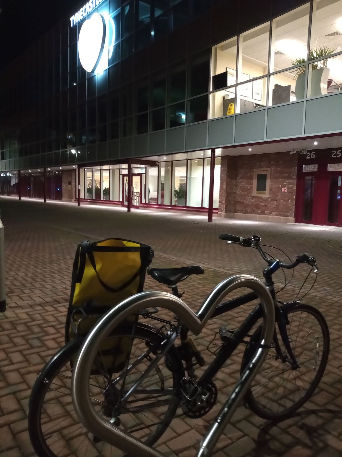 Bike parked outside Tynecastle park