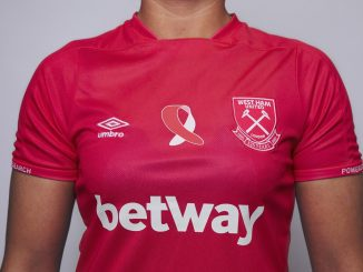 West Ham's pink Breast Cancer Now shirt
