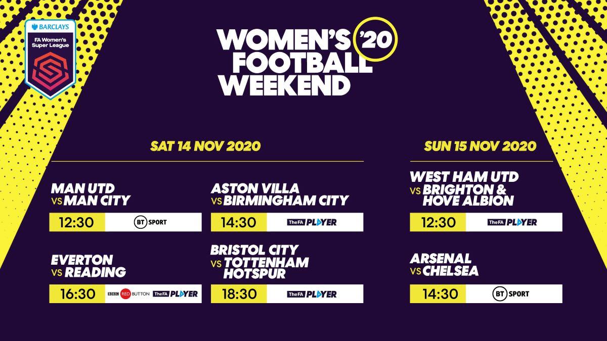 Women's Football Weekend 2020 fixtures