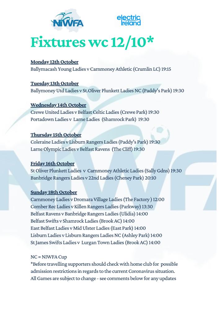 niwfa fixture Poster