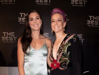 Alex Morgan and Megan Rapinoe at 2019 awards