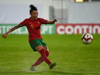 Portugal scorer, Ana Borges