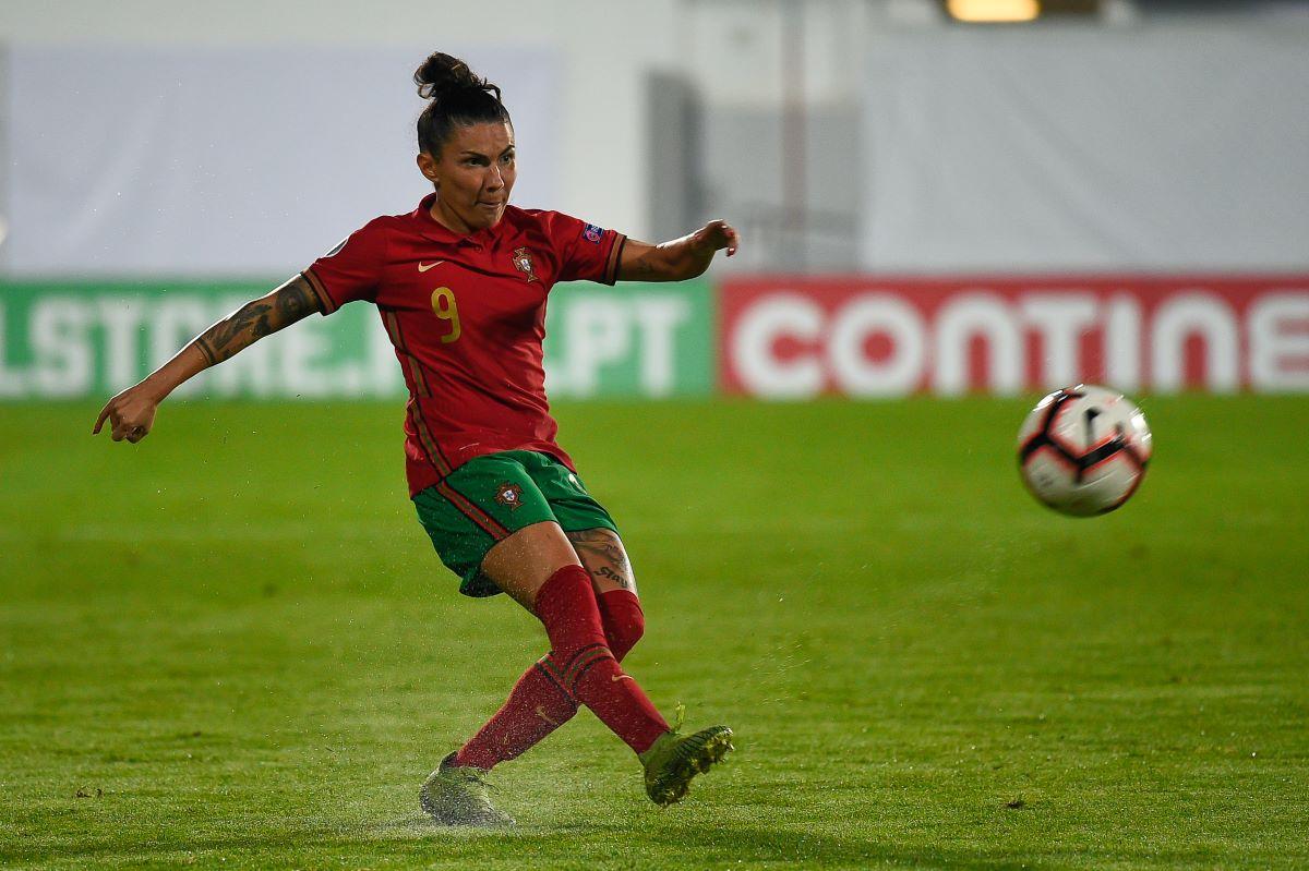 Portugal scorer, Ana Borges