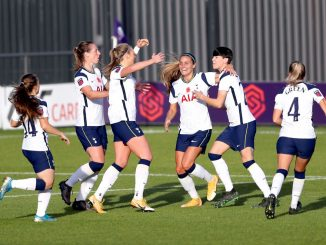 Spurs celebrate their equaliser