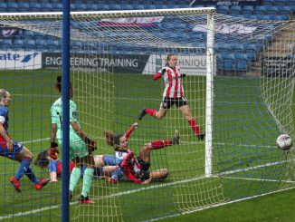 Courtney Sweetman-Kirk of Sheffield United scores