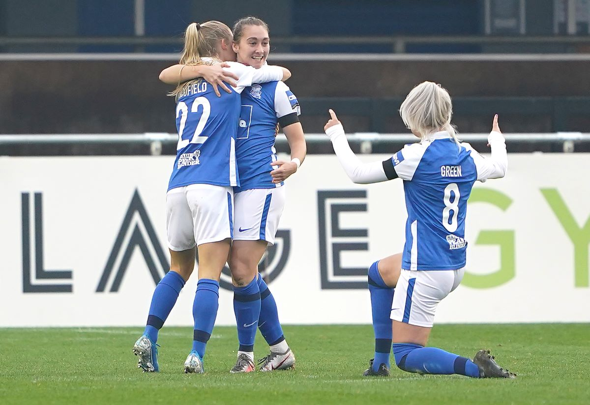 Birmingham City's Claudia Walker celebrates