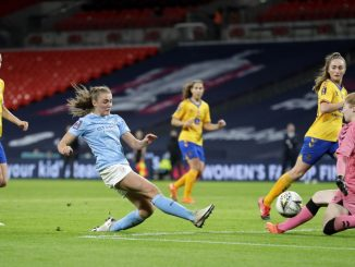 Manchester City's Georgia Stanway scores