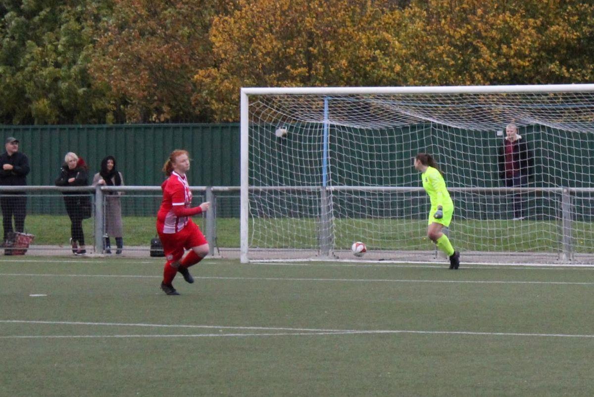 Harlow Town's winning penalty.