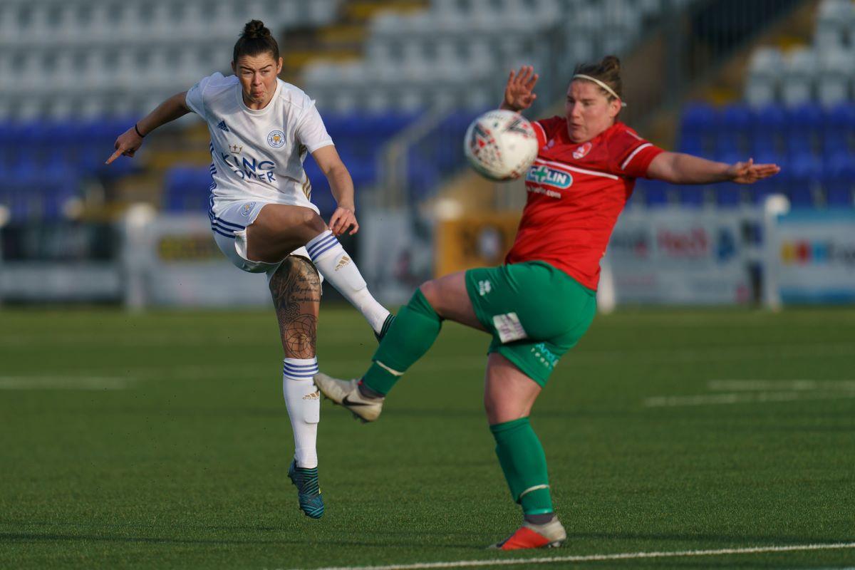 Leicester City's two-goal Natasha Flint
