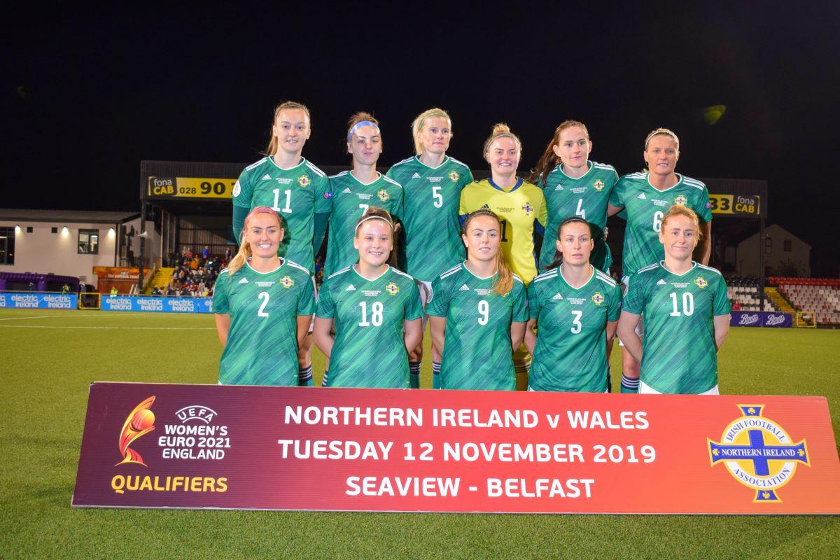 Northern Ireland line up v Wales