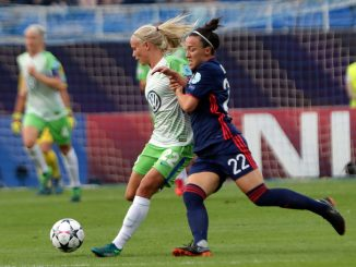 Pernille Harder and Lucy Bronze in UEFF.com fans' team of the year