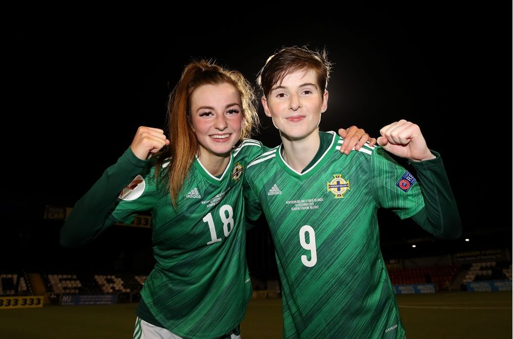 First sisters to play together for Northern Ireland