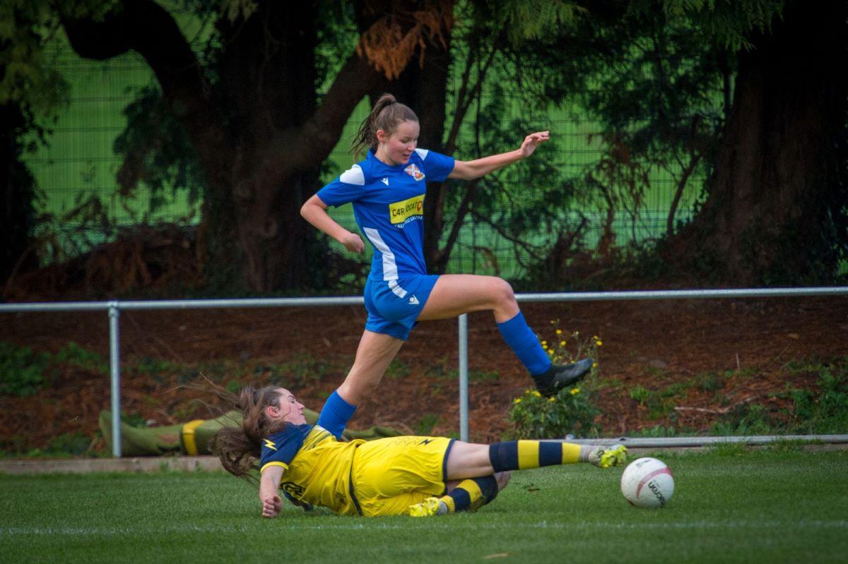 Welsh Premier Women;s league action