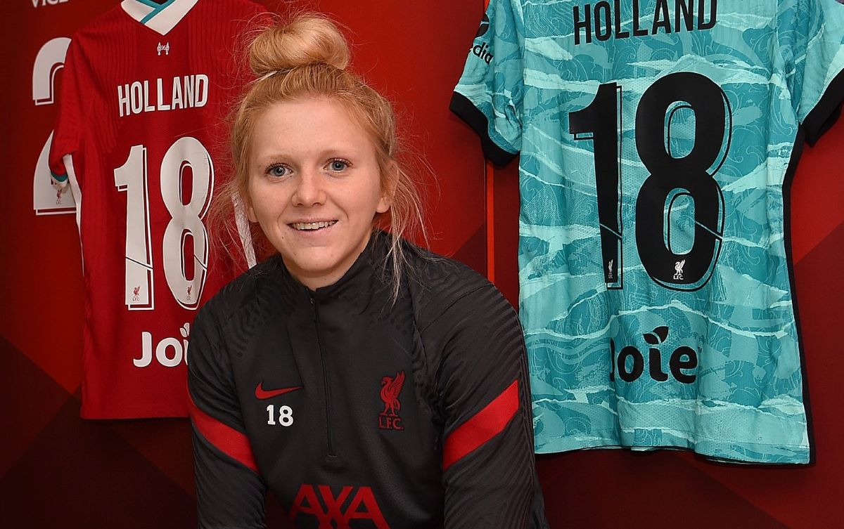 Liverpool's new signing, Ceri Holland