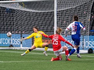 Gerogia Walters goes close for Blackburn