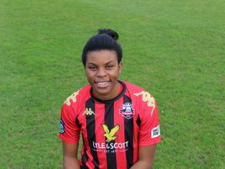 Lewes's new signing, Ini Umotong