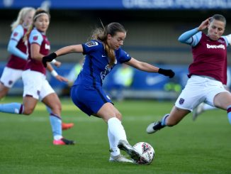 Chelsea's Fran Kirby in action against West Ham