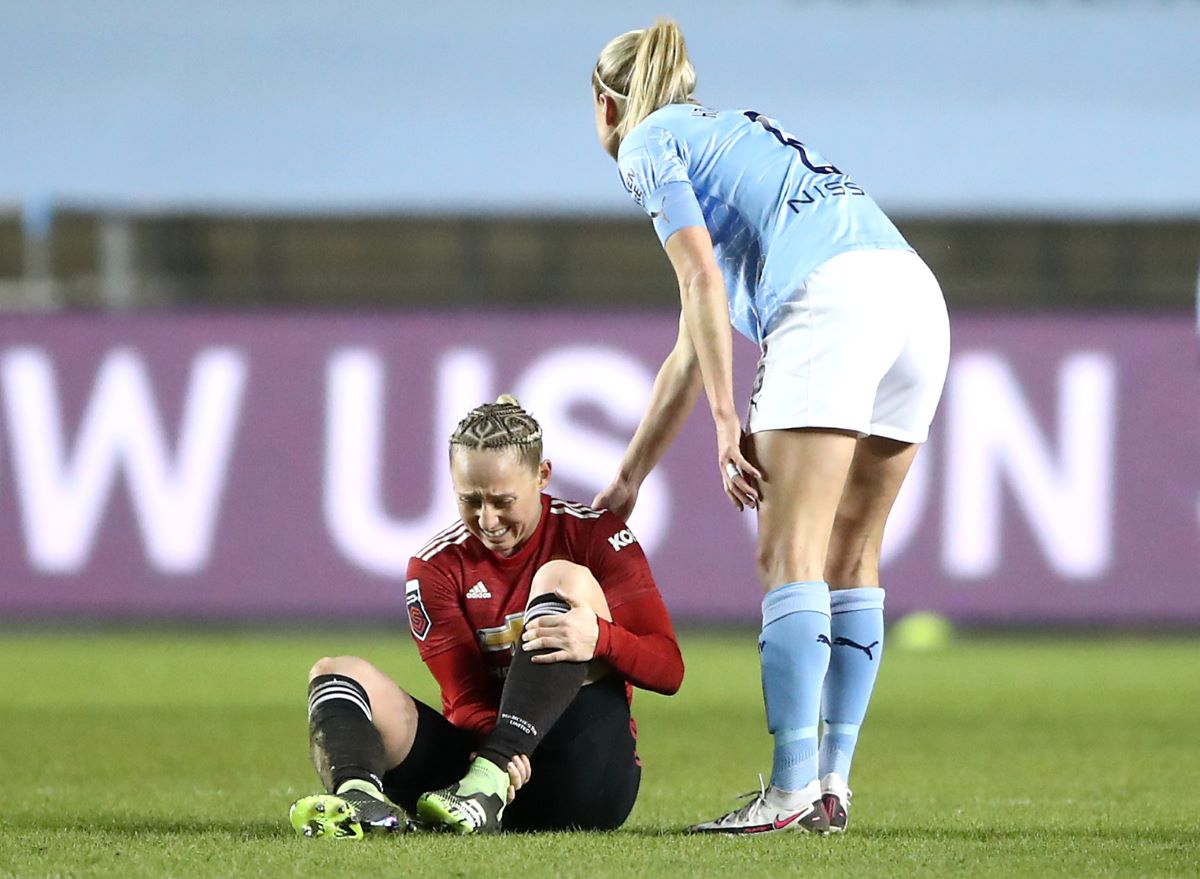 Leah galton suffers ankle injury
