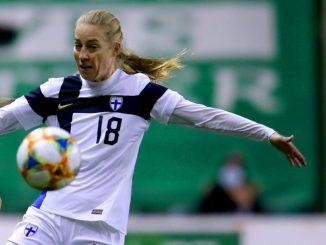 Finland's match-winner Linda Sallstrom