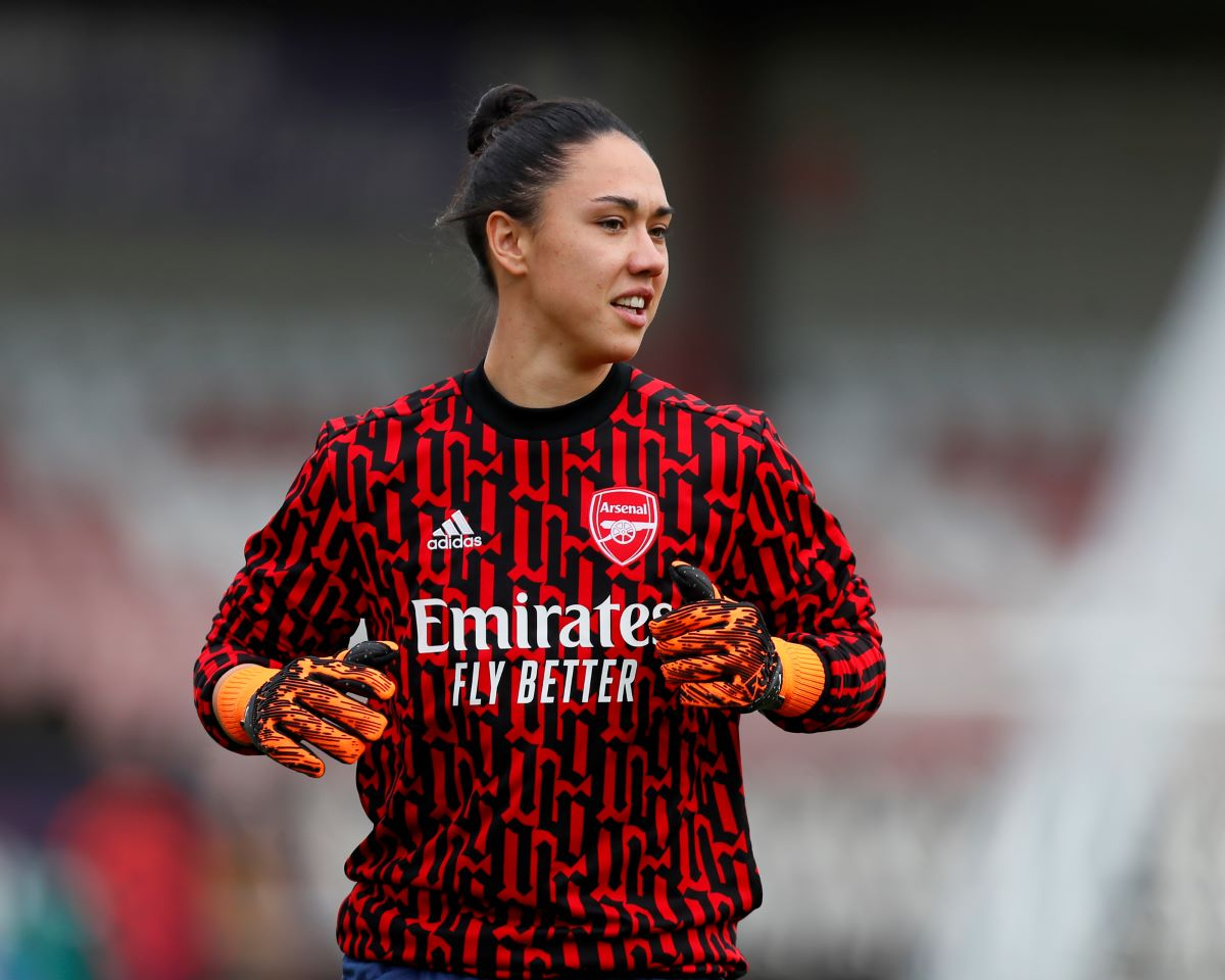 Manuela Zinsberger of Arsenal.