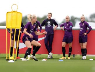 England players at training camp