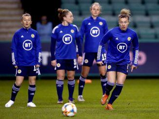 Scotland players warm-up