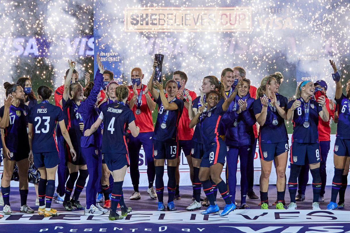USA lift the 2021 SheBelieves Cup