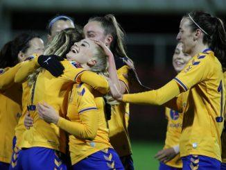 Everton's Alisha Lehmann scored her first goal for the club