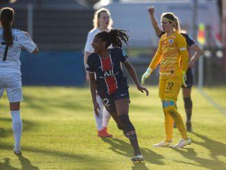 PSG's Ashley Lawrence scored against Sparta Praha