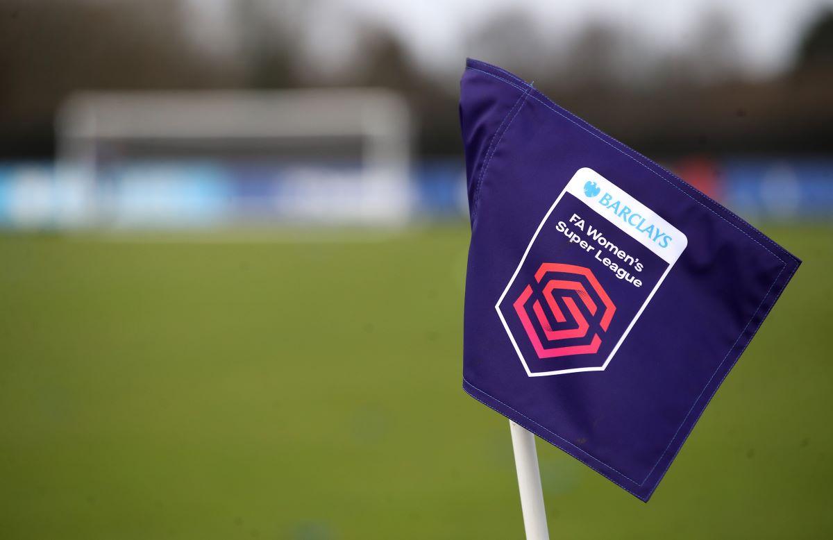 Barclays FA Women's Super League corner flag,