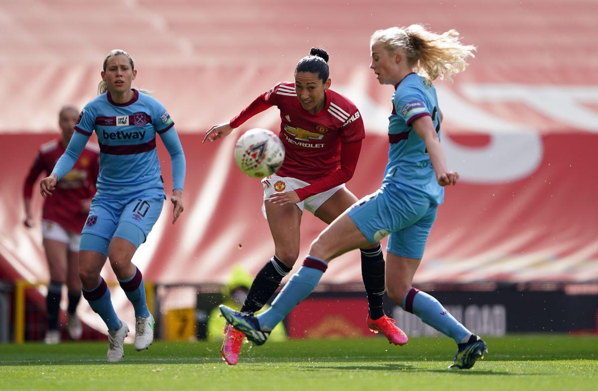 Man Utd's Christen Press got the second goal