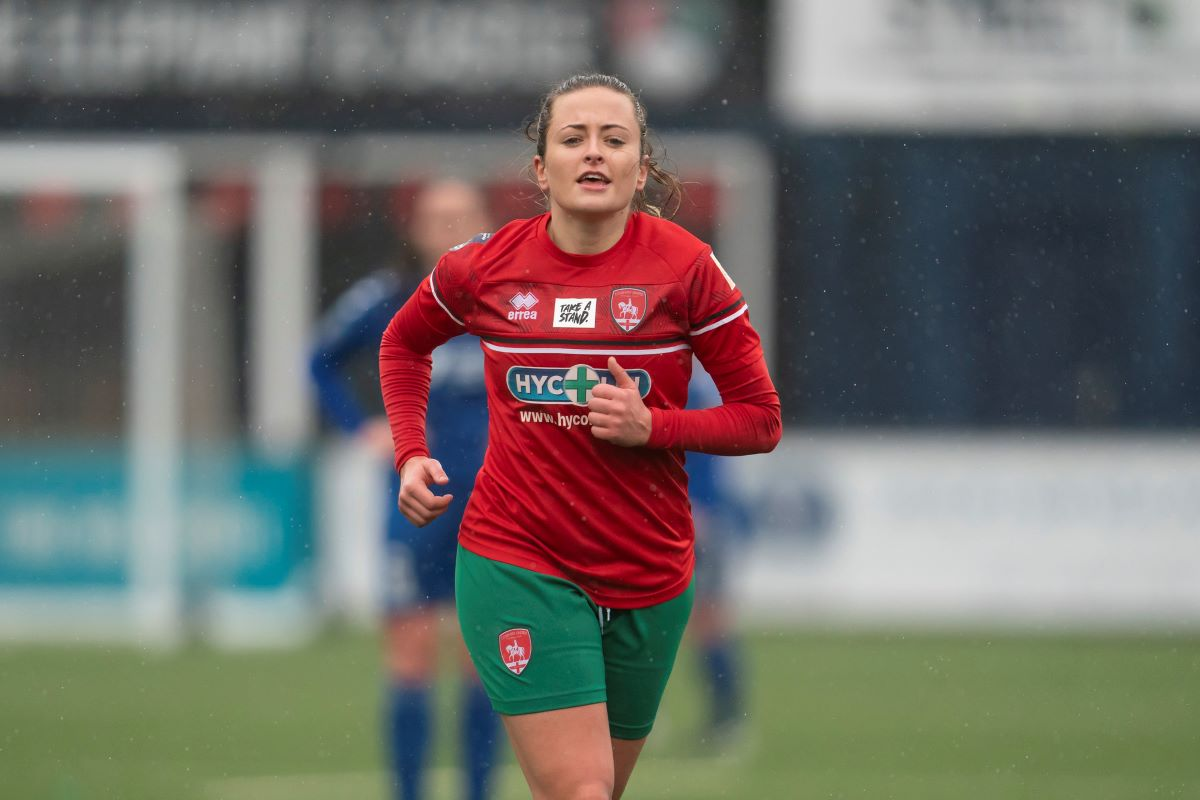 Coventry United match-winner, Hayley Crackle