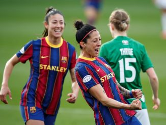 Barcelona's three-goal Jennifer Hermoso
