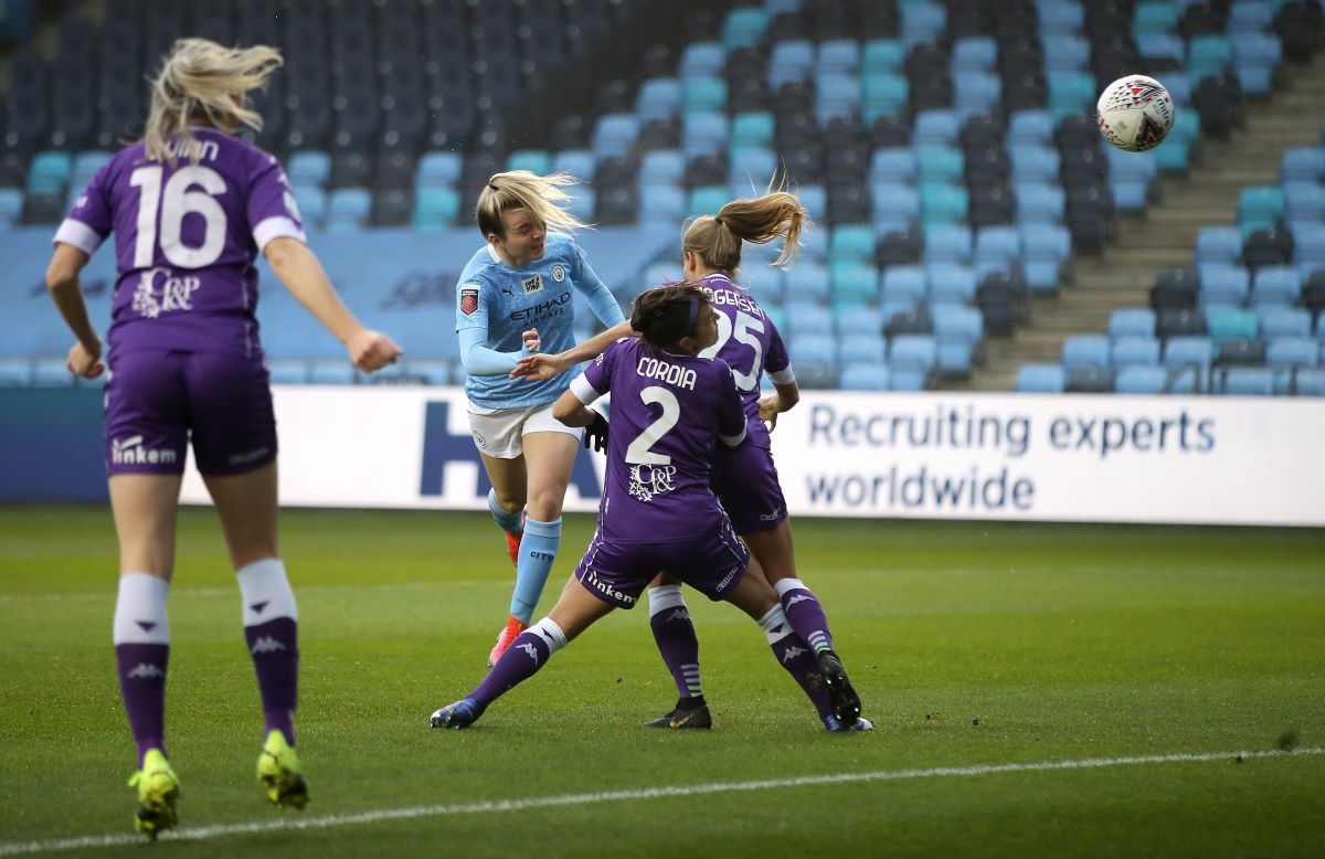 Man City's opening scorer, Lauren Hemp