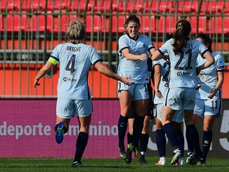 Chelsea's maren Mjelde celebrates her goal