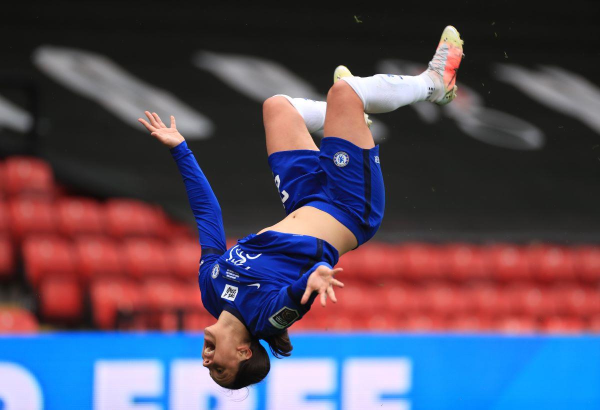 Sam Kerr's double flip