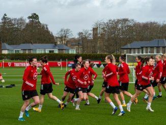 Wales Women training