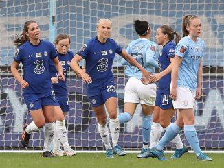Chelsea celebrate a penalty goal